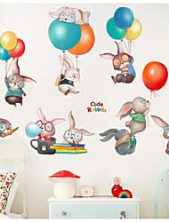 abordables -Animaux Stickers muraux Autocollants avion Autocollants muraux décoratifs, Plastique Décoration d'intérieur Calque Mural Mur