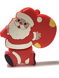 2gb natal usb flash drive cartoon criativo santa claus presente de natal usb 2.0