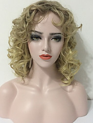 cheap -Synthetic Wig Curly Blonde Women's Capless Natural Wigs Medium Synthetic Hair