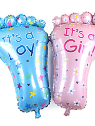 2Pcs/Set 79*46Cm Large Feet Baby Birthday Decoration Background Layout Foot Foil Balloons