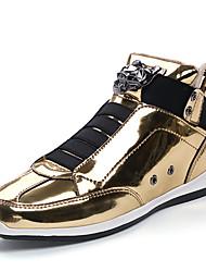 abordables -Homme Chaussures Polyuréthane / Similicuir Printemps / Automne Confort Basket Or / Noir / Argent