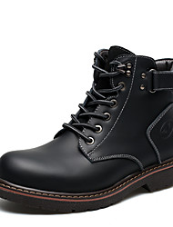Men's Boots Formal Shoes Comfort Snow Boots Fashion Boots Combat Boots Fall Winter Real Leather Leather Outdoor Work & Safety Lace-up