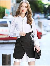 Camicia Pantalone Completi abbigliamento Da donna Casual Semplice Autunno,Tinta unita Colletto Manica lunga Anelastico