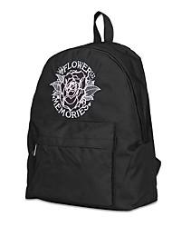 Недорогие -Женский Мешки Нейлон рюкзак Цветы для Повседневные на открытом воздухе Все сезоны Белый Черный