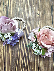 "cheap -Wedding Flowers Wrist Corsages Wedding Polyester 3.94""(Approx.10cm)"