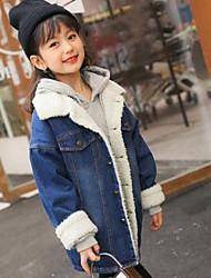 preiswerte -Mädchen Anzug & Blazer einfarbig Baumwolle Herbst Winter Lange Ärmel
