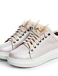 Damen Schuhe Kunstleder Herbst Winter Komfort Sneakers Creepers Für Normal Kleid Silber Rosa