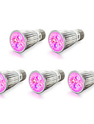 cheap -5pcs 4W 450 lm E14 E27 LED Grow Lights 5 leds High Power LED Red Blue AC85-265 AC 85-265V