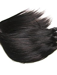 cheap -Brazilian Hair Straight Natural Color Hair Weaves Human Hair Weaves Natural Black Human Hair Extensions