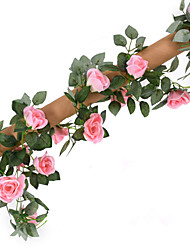 cheap -16 Heads 2.2M Rose Vine Artificial Flower Home Decoration Wedding Supply