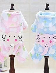 billige -Hund Hættetrøjer / Jumpsuits Hundetøj Tegneserie Blå / Lys pink Polarfleece / Dun Kostume For kæledyr Afslappet / Hverdag