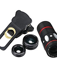 cheap -Mobile Phone Lens Fish-Eye Lens / Wide-Angle Lens / Macro Lens Glass 10X Macro Xiaomi / HUAWEI / Samsung