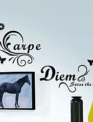 Parole e citazioni Moda Forma Adesivi murali Adesivi aereo da parete Adesivi decorativi da parete Materiale Decorazioni per la casa