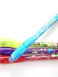 Недорогие -3шт невидимые чернила перо волшебное перо рекламные подарки ручки секретное письмо 2 в 1 волшебный невидимый знак безопасности пера для