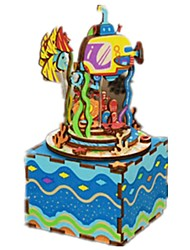 cheap -Music Box Kaleidoscope Wood Novelty DIY Music Kid's Unisex Gift