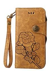 preiswerte -Hülle Für Samsung Galaxy S8 Plus S8 Kreditkartenfächer Flipbare Hülle Geprägt Ganzkörper-Gehäuse Blume Hart PU-Leder für S8 Plus S8 S7