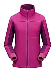 cheap -Women's Hiking Fleece Jacket Outdoor Winter Anti-Slip Anatomic Design Wearable UV resistant Breathability Winter Fleece Jacket Full