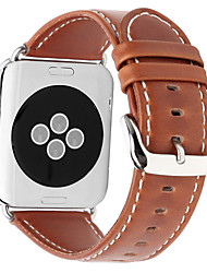 abordables -pour Apple Watch series 3 2 1 bracelet en cuir véritable bracelet 42mm 38mm