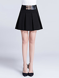 Women's Casual/Daily Above Knee Skirts,Simple A Line Solid Summer