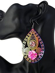 Women's Drop Earrings Oversized Colorful Alloy Oval Jewelry For Daily Going out