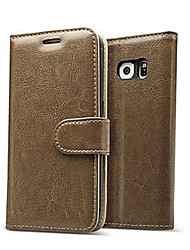 cheap -Luxury Genuine leather Flip Card Wallet case cover for Samsung Galaxy S7/S7 edge