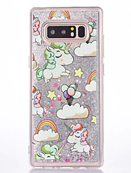 cheap -Case For Samsung Galaxy Note 8 Flowing Liquid Pattern Back Cover Unicorn Hard PC for Note 8 Note 5 Note 4 Note 3