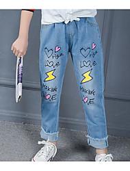 Mädchen Jeans Druck Baumwolle Frühling