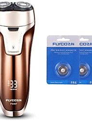 FLYCO FS867 Electric Shaver Razor Two Spare Heads 100240V Washable