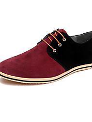 Herren Schuhe Echtes Leder Leder Frühling Herbst formale Schuhe Outdoor Kombination Für Party & Festivität Schwarz Grau Rot Khaki