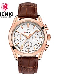 CHENXI® Homme Montre Habillée Smart Watch Montre Tendance Chinois Quartz Calendrier Cuir Bande Charme Cool Pour tous les jours Luxe Noir