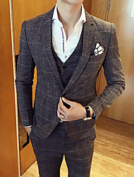 Men's Casual/Daily Work Casual Vintage Spring Fall Suit