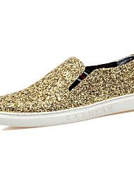 preiswerte -Herren Schuhe Glanz Herbst Winter Komfort Loafers & Slip-Ons Für Normal Party & Festivität Gold Schwarz Silber