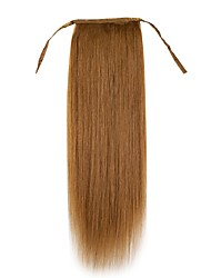 20inch Women  Silk Straight  Clip-in String -Ponytail 100% Human hair Extension 100G easy wear
