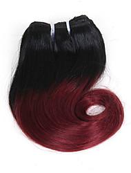 Недорогие -Омбре Бразильские волосы Волнистые Естественные волны Естественные кудри 1 год 4 волосы ткет 0.1 кг Пряди с быстрым креплением