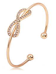 Men's Women's Cuff Bracelet Rhinestone Open Simple Style Rhinestone Alloy Infinity Jewelry For Party Birthday Graduation Gift Casual