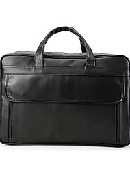 Herren Taschen Ganzjährig Kuhfell Aktentasche Taschen Reißverschluss für Normal Schwarz