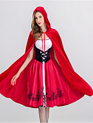 Princess Fairytale Maid Costumes Cosplay Costumes Halloween Festival/Holiday Halloween Costumes Red Fashion
