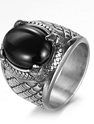 cheap -Men's Ring - Titanium Steel Luxury, Vintage, Punk 7 / 8 / 9 Silver For Birthday / Gift / Daily