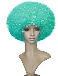 Donna Parrucche sintetiche Senza tappo Pantaloncini Ricci Jheri Verde Parrucca naturale Parrucca per festa Parrucca di celebrità Parrucca