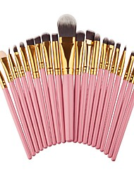 20 pcs Makeup Brush Set Blush Brush Eyeshadow Brush Brow Brush Eyeliner Brush Eyelash Brush Fan Brush Powder Brush Foundation Brush Nylon