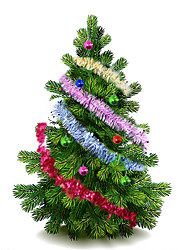10Pcs/Set    2M Long   Christmas Color Bar Ribbon Xmas Tree Ornaments Pendants Creative Christmas Decoration Party Supplies