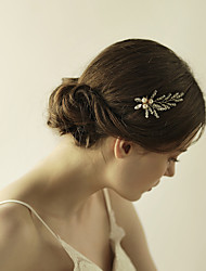 cheap -Crystal Imitation Pearl Flowers Hair Pin Hair Stick 1 Wedding Special Occasion Anniversary Birthday Graduation Party / Evening Headpiece
