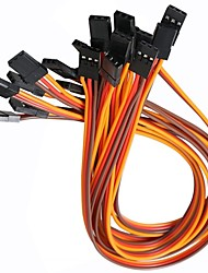 abordables -3pin 20mm servo cables macho a macho (10 pack)