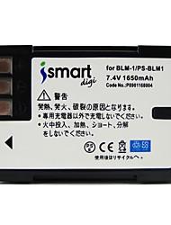 Bateria da câmera ismartdigi blm1 7.4v 1650mah para olympus ps-blm1 c5060 c-8080 c7070 e520 e500