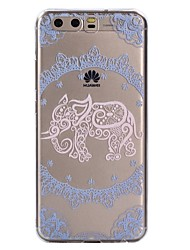 cheap -Case For Huawei P10 Lite P10 Transparent Pattern Back Cover Lace Printing Elephant Soft TPU for Huawei P10 Lite Huawei P10 Huawei P9 Lite