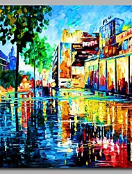 Hand-Painted Landscape Square,Artistic Classic Style Classic Classic & Timeless Birthday Modern/Contemporary Office/Business Cool