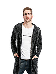 cheap -Men's Daily Casual Solid Shirt Collar Cardigan, Long Sleeves Winter Fall Cotton