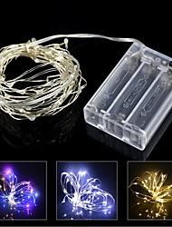 2m 20led led fairy string lumières fil de cuivre imperméable à la décoration de mariage