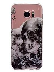til case cover imd gennemsigtigt mønster bagside cover blomsterskalle blødt tpu til Samsung Galaxy S8 plus s8 s7 kant s7 s6 kant s6 s5