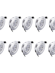 cheap -3w LED Downlights Warm White 10 pcs 85-265v High Quality LED Light